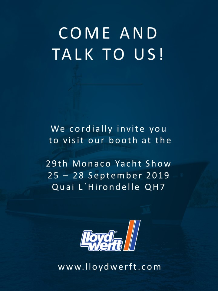 Come and talk to us - Monaco Yacht Show